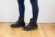 Dr Marten Black Leather Doc Marten 14 Eyelet Lace Up Grunge Punk Rock Festival Bounce Sole Vintage Boots UK 10/11 EU 45/46 US 11.5 12.5 by FlorrieJanesVintage on Etsy