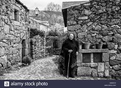Linhares village in Portugal Stock Photo