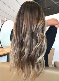 Hair Color 2018, Ombre Hair Color, Hair Color Balayage, Blonde Balayage, Brown Hair Colors, Balayage Hair Brunette With Blonde, Balayage Long Hair, Balayage Hair Caramel, Blonde Honey