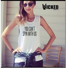 You can't spin with us Bella + Canvas - Flowy Muscle Tank custom made Ultra soft Ladies muscle tank top