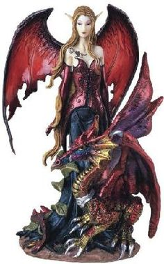 *Fairy Collection Pixie With Dragon Fantasy Figurine