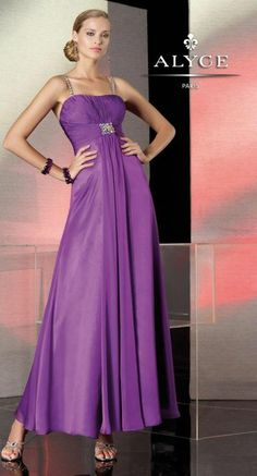 Alternate view of the Alyce BDazzle 35521 Jeweled Straps Iridescent Formal Dress image