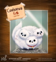 Daily+Painting+1740#+Monster+Shop+-+Cerberus+by+Cryptid-Creations.deviantart.com+on+@DeviantArt