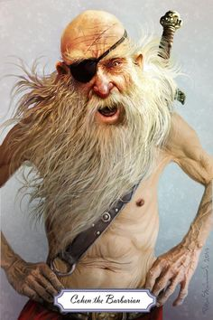 Terry Pratchett Discworld, Character Art, Character Design, Classic Sci Fi, People Icon, Fantasy Pictures, Book People, Weird And Wonderful, Barbarian