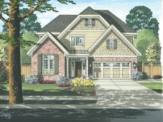 Craftsman House Plan with 2328 Square Feet and 4 Bedrooms from Dream Home Source | House Plan Code DHSW73930