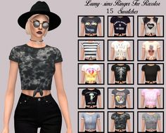 Puresims Ringer Tee Recolor at Lumy Sims • Sims 4 Updates