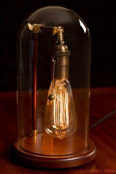 Edison Bell Jar Lamp by DanCordero on Etsy