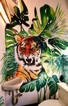 paint — Sam.Malpass Graffiti Wall Art, Murals Street Art, Mural Wall Art, Mural Painting, Oil Painting Abstract, Floor Murals, Tiger Art, Wall Drawing, Custom Dog Portraits