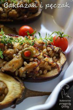 Kulinarne przygody Gatity: Zapiekany bakłażan z pęczakiem