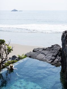 Oceanside Beach, Pool Cabana, Dream Pools, Swimming Pool Designs, Cool Pools, Landscape Design, Pond, Water, Outdoor