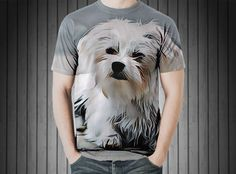 T-Shirt - Dog small white small dog out https://www.donateprint.com/products/600001481270