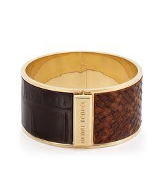 Wide Hinge Leather Bangle | Jewelry | Henri Bendel