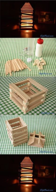Create a Cute Lamp Using Popsicle Sticks