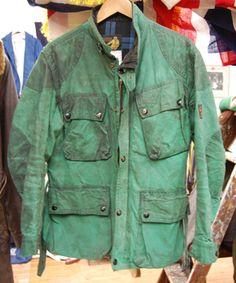 Green Barbour. #wearandtear #vintage #waxed