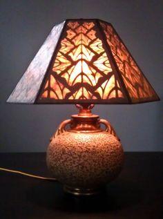 SALE Rare Late 1920's Olive Kooken Art Deco Lamp by DOOLEYRESTORED, $475.00