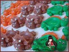 Nilci art's em biscuit: Porta docinhos dinossauros