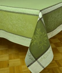 """Tablecloth """"Olive"""" Green"""