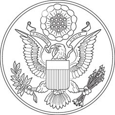 American Symbols Coloring Sheets symbols are just a few of