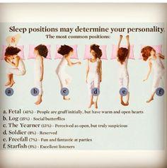 Psychology - sleeping positions