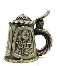 1981 Signed Nicholas Gish Gish Natural Light beer stain pewter thimble lid opens