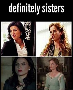 〖 TAGS: Once Upon a Time Zelena Regina Mills Evil Queen Wicked Witch of the West sisters Evil Regal funny 〗