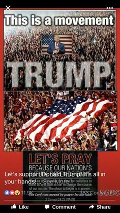 Pray, pray, pray for Donald Trump and our America! Donald Trump, John Trump, Pray For America, God Bless America, Trump Train, Trump Pence, New President, Presidential Election, 2016 Election