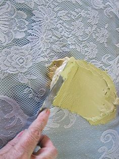 Diy Faux Lace Texture Painted Furniture Plaster Crafts - Diy Faux Lace Texture Painted Front Doors Stencil Painting Painting Pressed Wood Lace Stencil Lace Painting Painting Tips Stenciling Furniture Makeover Lace Painted Furniture S Jaw Dropping Decor # Plaster Crafts, Plaster Art, Plaster Walls, Decorative Plaster, Decoupage Furniture, Hand Painted Furniture, Lace Stencil, Diy And Crafts, Arts And Crafts