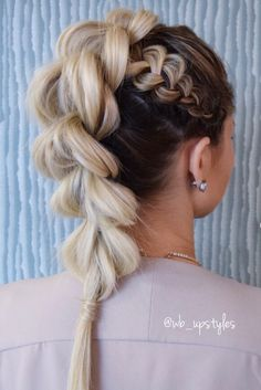 Pull through braid. Hair by Whit at Luxe salon and spa in Lancaster, PA