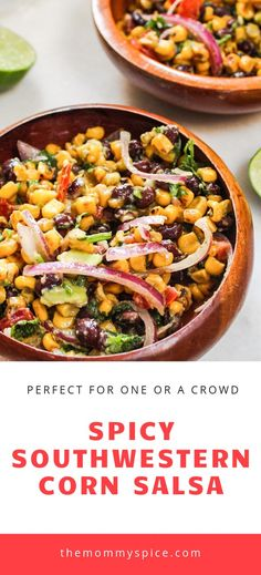 Spicy Southwestern Corn Salad- My spin on cowboy chilli! I make this all of the time in the spring and summer. I also pair it will all of our Mexican Inspired dinners year round! I hope you enjoy! Do check it out!