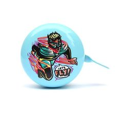 Lets Fly (day) bicycle bell design by Ben Mitchell Ben Mitchell, Bell Design, Bicycle Bell, Street Artists, Illustrators, Accessories, Illustrations, Ornament