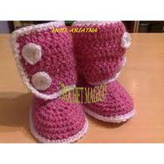 Botas, Botitas Tejidas Para Bebe Niño Niña Crochet Dpa $ 100.0 ...