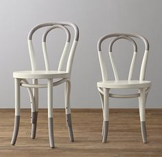 sized for the small set, classic French café chairs with playful, paint-dipped accents. #rhbabyandchild