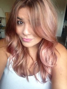 Rose gold hair by jessica Horsley