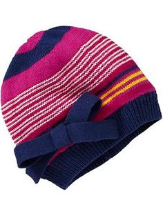 Striped Sweater-Knit Beanies for Baby. Lucy Lemon · Baby Girl    Hats 7705d001227