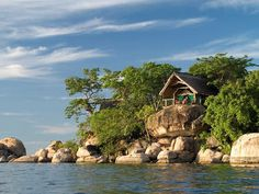Mumbo Island lodge ~ Mumbo Island on Lake Malawi (Africa's third-largest and second-deepest freshwater lake) Best Countries To Visit, Cool Countries, Cool Places To Visit, Places To Go, African Vacation, Sailing Holidays, Amazing Destinations, Holiday Destinations, What A Wonderful World