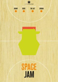 LCArts Film Lounge presents Space Jam poster.