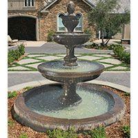 Mediterranean Fountain w/Euro Basin LG134-FAWC