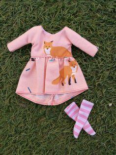 vestido de zorro para blythe doll, blythe dress fox