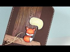 ▶ NEW Lawn Fawn Into the Woods Stamps - Make a Card Monday #231 - YouTube (I want these stamps so bad!)