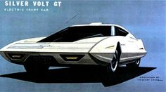 The car of tomorrow? The volt was around a lot longer then you thought...  Silver Volt GT Electric Sport Car concept by GM's Henry Lauve, 1980.