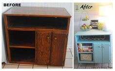 Diary of a Preppy Mom: Repurposed TV Console turned Buffet Bar