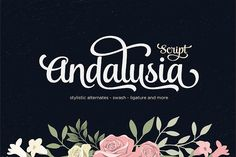 Andalusia Script (25% Off) by Seniors on @creativemarket