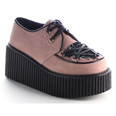 57e88c2f495a Women s shoes Platform Creeper Pyramid studs D-ring Lace up