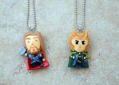 Thor and Loki BFF Necklaces by *kittykat01 on deviantART