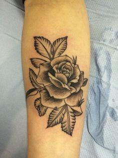 ee9fd8161 Rose tattoo by Travis Allen at twisted tattoo Yaxley Www.twistedtattoo.co.uk