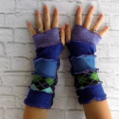 Texting Gloves Recycled Sweaters Fingerless Gloves Gypsy
