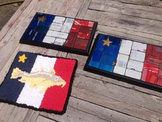 Hooked rug and pop can mosaic Pop Cans, Rug Hooking, Mosaic Art, Flags, Artsy, Crafting, Happy, Creative, Ideas
