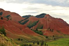 The Red Hills of Kelly, Wyoming.  We had the best time when we got off the main roads.  This is my photo from our 2014 trip.