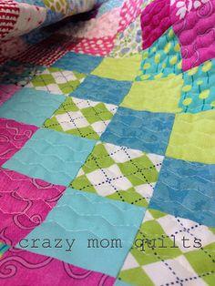 crazy mom quilts: honeycomb quilting