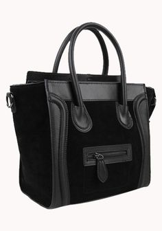 Black Vanessa Tote Medium Bag Made of high quality leatherBlack color metal hardwareDual shoulder straps with an attachable cross body strapTop zip closure
